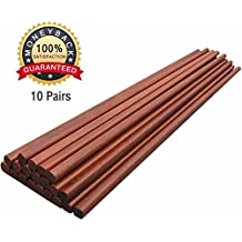 Chinese Health Wooden Chopsticks, 10 Pairs Gift Sets,Smooth Surface, Premium Material,Color3