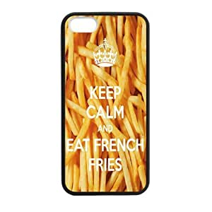 Keep Calm and Eat French Fries TPU (Laser Technology) Case Cover for Apple iphone 5 or 5s