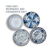YALONG 7 inch Ceramic Shallow Porcelain Asian Plate