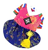 SELMAI Korean Traditional Dog Costume Hanbok Holiday Clothes for Small Dog Cat Puppy Embroidered Clothing Silk Girl S