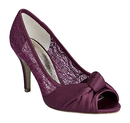 Adrianna Papell Women's Francesca Dress Pump, Merlot Satin, Size 7 B(M)