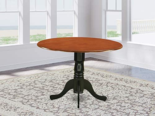 picture of East West Furniture DLT-BCH-TP Dublin Table-Saddle Brown