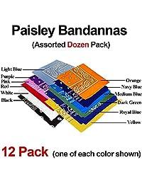 Bandana Classic Paisley - Assorted 12 Pack