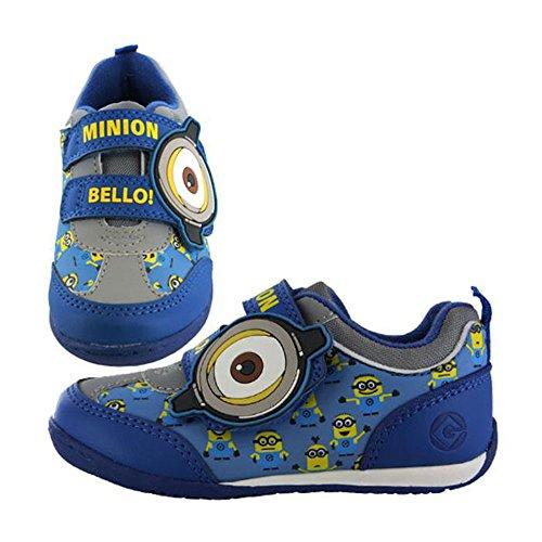 Minions Bello Kids Velcro Plimsoll Runner Zapatillas