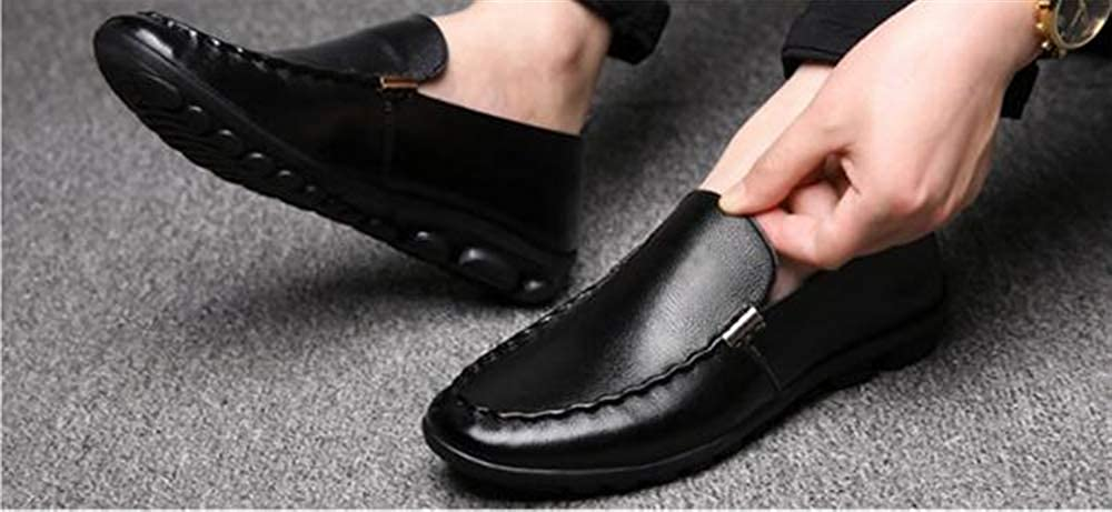 Mens Dress Shoes Leather Square Toe Oxford Lightweight Formal Shoes