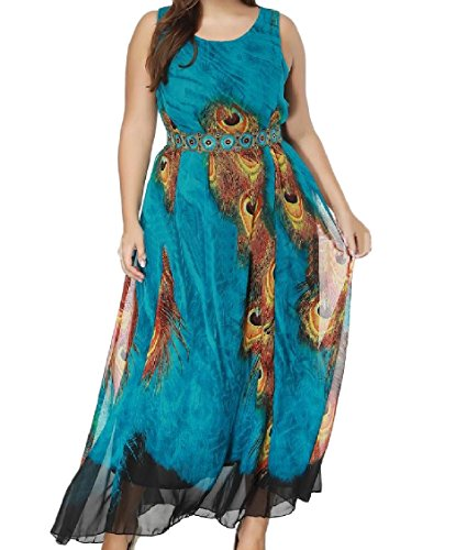 Printed Top Dress Picture Bohemian Oversize Swing Women As Tank Beach Maxi Coolred EzwUqZxYg