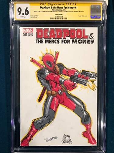 RYAN STEGMAN ORIGINAL Sketch Art CGC 9.6 Signed DEADPOOL Comic not CBCS