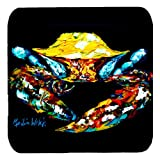 Caroline's Treasures MW1150FC Sand Dance Turtle Foam Coaster, 3.5'', Multicolor