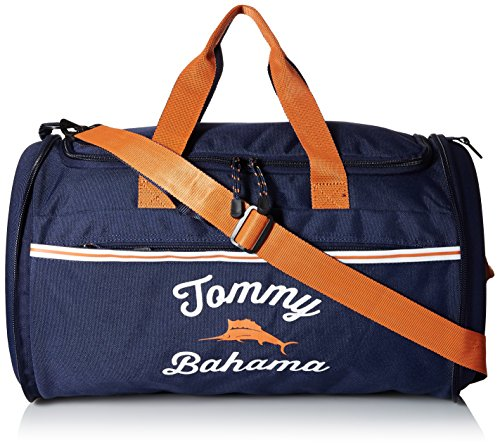 Tommy Bahama Travel Carry Duffle Bag, Navy/Orange/Navy (Tommy Bahama Bag Duffle)