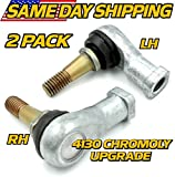 (2 Pack) EZGO TXT Golf Cart Tie Rod End (1) Driver & (1) Passenger Side 70902-G02, 70902-G01, 2001 & UP, HD Switch