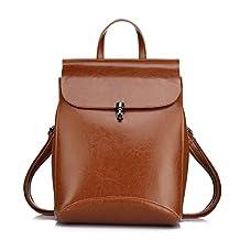 Genuine Leather Backpacks for Women Shoulder Bag Spring fashion Leather Purses by Realer