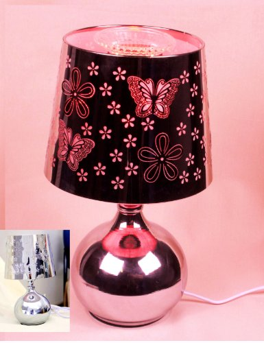Gmt-004 RED Light 10 inch Stainless steel Wrap butterfly pattern Aroma Lamp Touch Dimmer Electric Oil Burner Fragrance Lamp with 1 oz random oil (Touch Aroma Lamp compare prices)