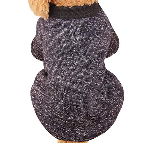 Fitfulvan Clearance!Pet Dog Puppy Sweater Fleece Sweater Clothes Warm Sweater(Black,XXL)