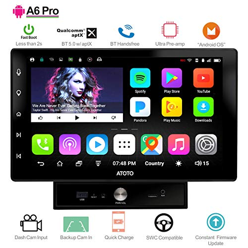 [New] ATOTO A6 2DIN Android Car Navigation Stereo with Dual Bluetooth & 2A Charge - A6Y1021PR 2GB+32GB 10.1IN Car Entertainment Multimedia Radio,WiFi/BT Tethering Internet,Support 256G SD &More