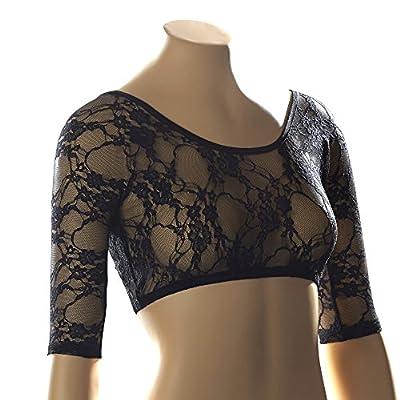 Sleevey Wonders Women's Basic 1/2 Sleeve Lace Sleeve Black by Sleevey Wonders
