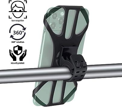 Soporte Movil Bici Universal, 360° Rotación Motocicleta Soporte Universal Manillar para Smartphones Soporte Movil Bicicleta, Teléfono Soporte para Bicicleta: Amazon.es: Electrónica