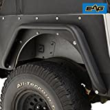 95 wrangler fender flares - EAG Rear Fender Flares Armor Rocker Guards With Hardware Kit for 87-96 Jeep Wrangler YJ