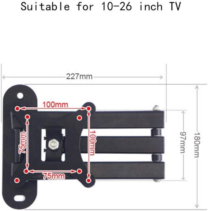LQW HOME Soporte Giratorio telescópico para TV LCD (para 10-26 ...