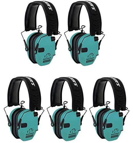 Walkers GWPRSEMLTL Razor Slim Electronic Earmuff 23 dB Light Teal - 5 Pack by Walker's Game Ear