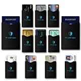 #8: RFID Blocking Sleeves (10 Credit Card & 2 Passport Protectors) by 01 Digitals Secure Identity Theft Protection Travel Case Set. Smart Holders Fit Wallet, Purse & Cell Phones