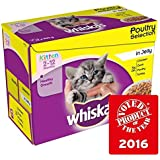Whiskas Kitten Pouch Poultry in Jelly 12 x 100g (PACK OF 4)