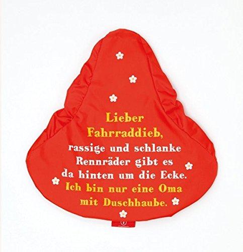 Sattelschutz Sattelbezug rot Lieber Fahrraddieb,...