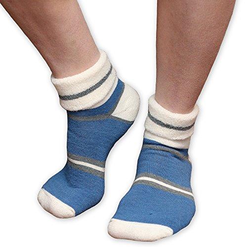Maggie's Organics Wool Snuggle Sock (9-11, Blue/Grey)