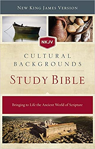 NKJV, Cultural Backgrounds Study Bible, Hardcover, Red Letter ...