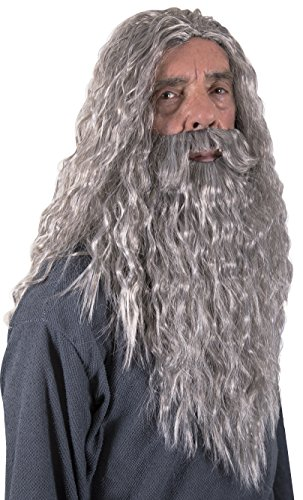 Fake Grey Beard (Kangaroo Halloween Accessories - Wizard)