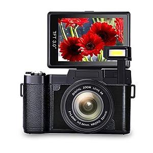 Digital Camera Vlogging Camera Full HD1080p 24.0MP Camera 3.0 Inch Flip Screen Camera with Retractable Flashlight Vlogging Camera for YouTube …