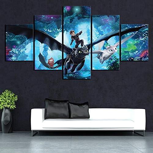 Size Mode Peinture Toile 3pcs HD Dragon Jeux Image Art Peintures murales World of Warcraft Jeu Vid/éo Poster Une oeuvre Peinture for Home D/écor inch : 30x45cm x 3 pcs