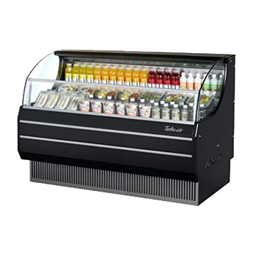 TOM75SB 75 Open Display Merchandiser with Modern Design Environmental Friendly Refrigeration System Glass Sides Anti-Rust Coating High Density PU Insulation and Improved Air Flow: Black