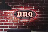 BBQ time 2 eat cook mancave kitchen led lighted neon sign shop garage home decor