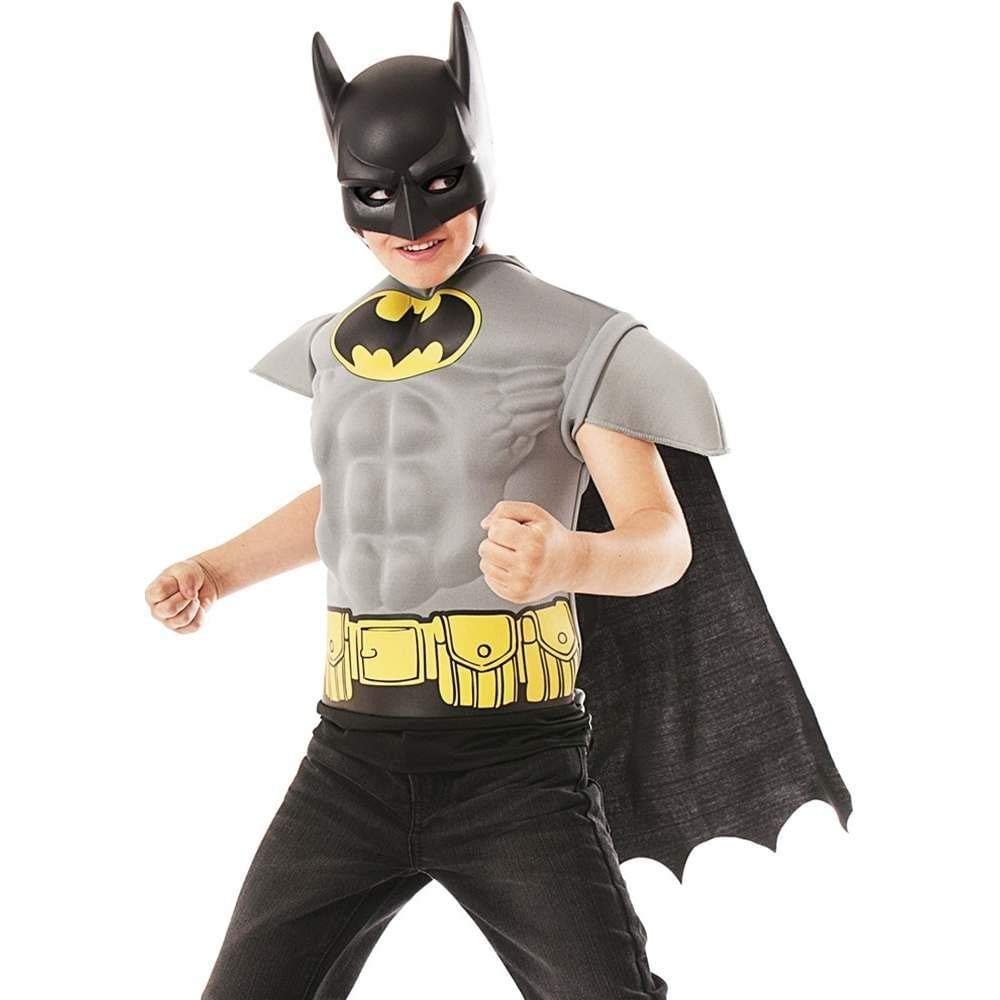 Imagine by Rubies Batman Grey Muscle Chest Shirt, One Color, Small