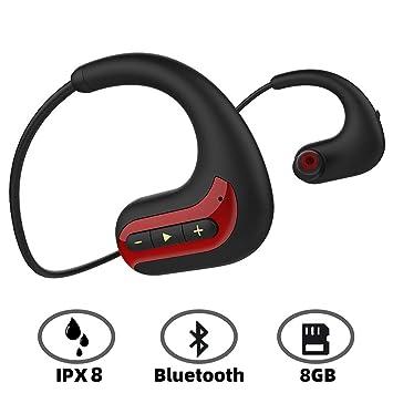 YTBLF Reproductor De Música MP3 Resistente Al Agua, Auriculares ...