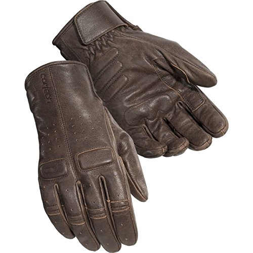 - Cortech Men's Heckler Leather Motorcycle Gloves (Brown, Large)