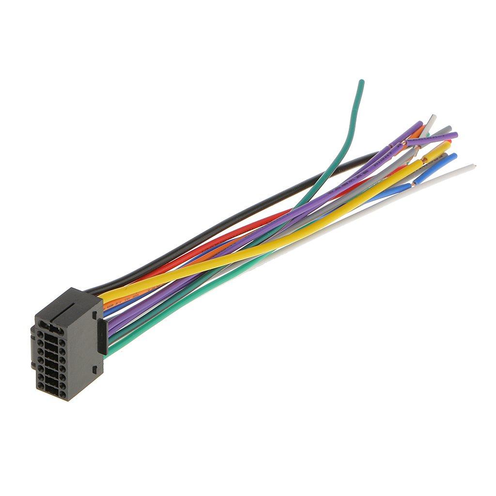IPOTCH Connettore Stereo Cavo Spina 16 Pin Cablaggio Autoradio Accessorio Auto Per Kenwood