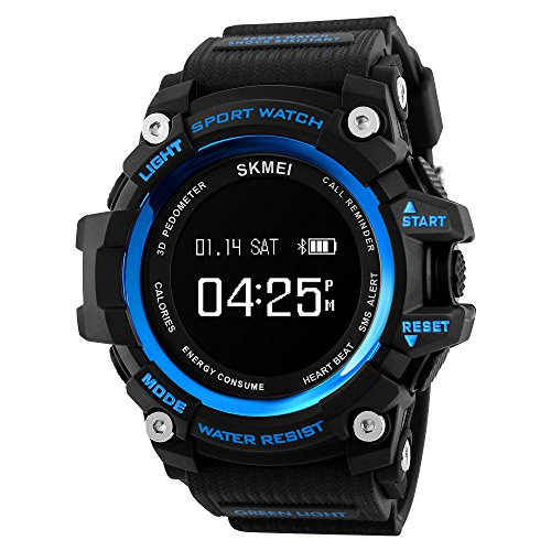 SKMEI Men's Military Black LCD Digital Sport Watch - 8