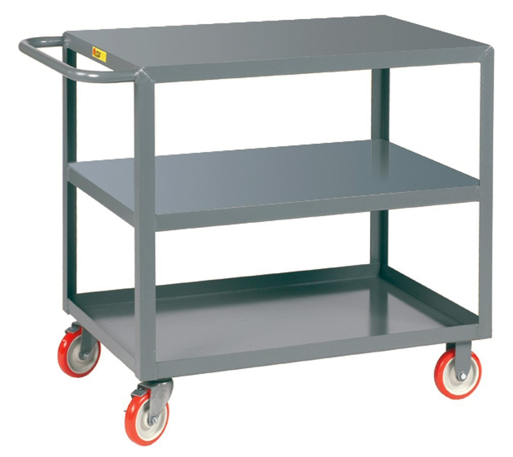 Little Giant 3LG-2436-BRK Welded Service Cart, 24'' x 36'', Gray