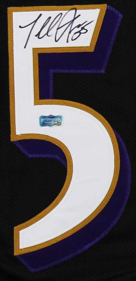Terrell Suggs Autographed//Signed Baltimore Custom Black Jersey