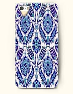 OOFIT Apple iPhone 4 4S Case Moroccan Pattern ( Blue Symmetrical Flowers )