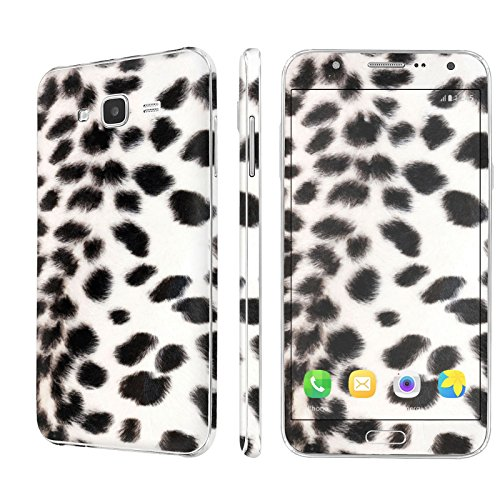 [Galaxy J7] Skin [NakedShield] Scratch Guard Vinyl Skin Decal [Full Body Edge] [Matching WallPaper] - [Snow Leopard] for Samsung [Galaxy J7 / J700H (2015)] - Edge Snow Leopard