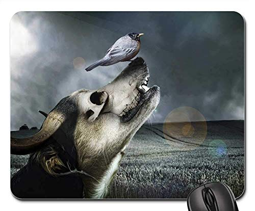 Horn 2 90x40 - Gaming Mouse Pads,Mouse mat,Dog Horn New Nature Animal Sky Structure Surreal
