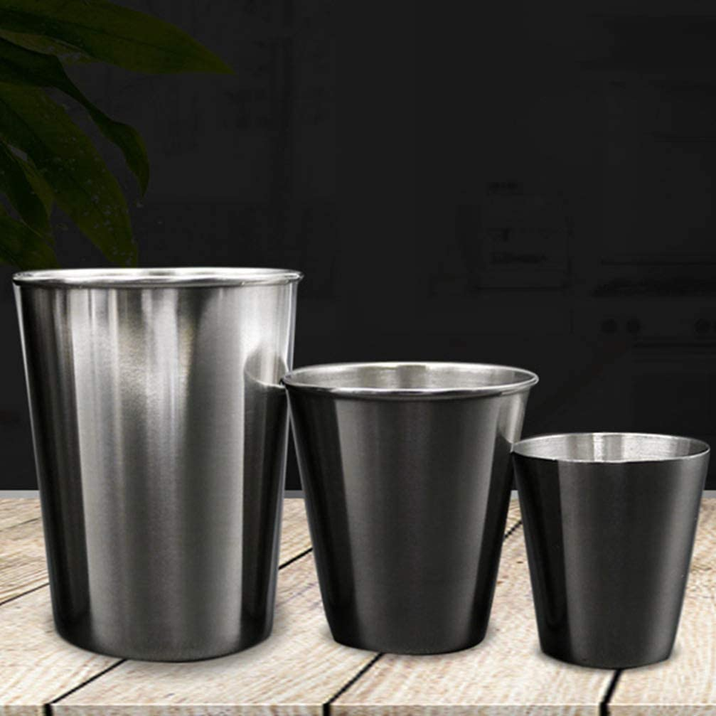 NUOBESTY 20 piezas vasos de chupito de acero inoxidable tazas de condimentos para salsa tazones de inmersi/ón vaso para beber 30 ml