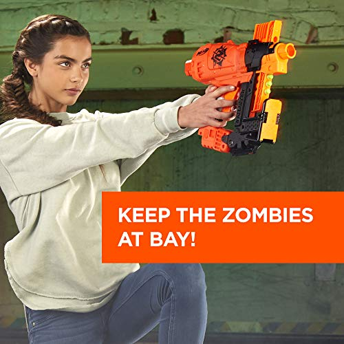51aaINEyuUL - Nerf Nailbiter Zombie Strike Toy Blaster – 8 Official Zombie Strike Elite Darts, 8-Dart Indexing Clip – Survival System – for Kids, Teens, Adults