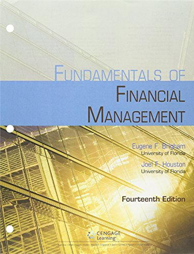 Bundle: Fundamentals of Financial Management, 14th + MindTap Finance, 1 term (6 months) Printed Access Card