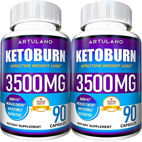 Keto Pills - 5X Potent (2-Pack | 180 Capsules) - Weight Loss Keto Burn Diet Pills - Boost Energy and Metabolism - Exogenous Keto BHB Supplement for Women and Men - 90 Capsules