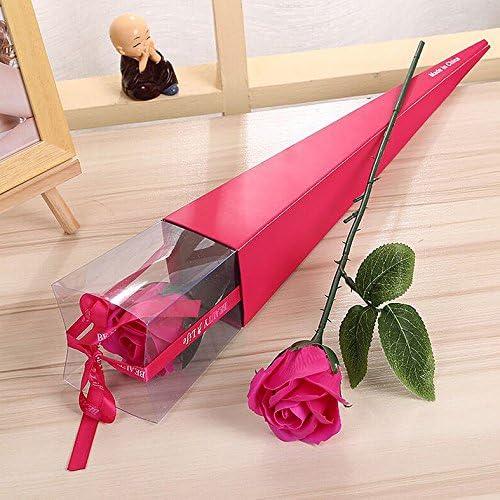 Gaoxu Presenta, ideas, simulaciones, flores, rosas, día de San Valentín Ramos, regalos de cumpleaños, jabón perfumado de flores,Rosa Roja: Amazon.es: Jardín