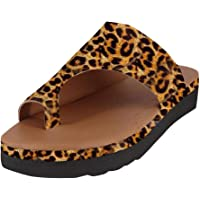 Oucan Women Comfy Flats Plataformas Sandalias Punta abierta Tobillo Zapatos de playa Zapatillas de oficina Sandalias