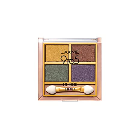 Lakme 9 to 5 Eye Color Quartet Eye Shadow, Tanjore Rush, 7 g